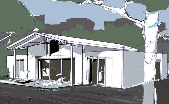 maison contemporaine mezzanine
