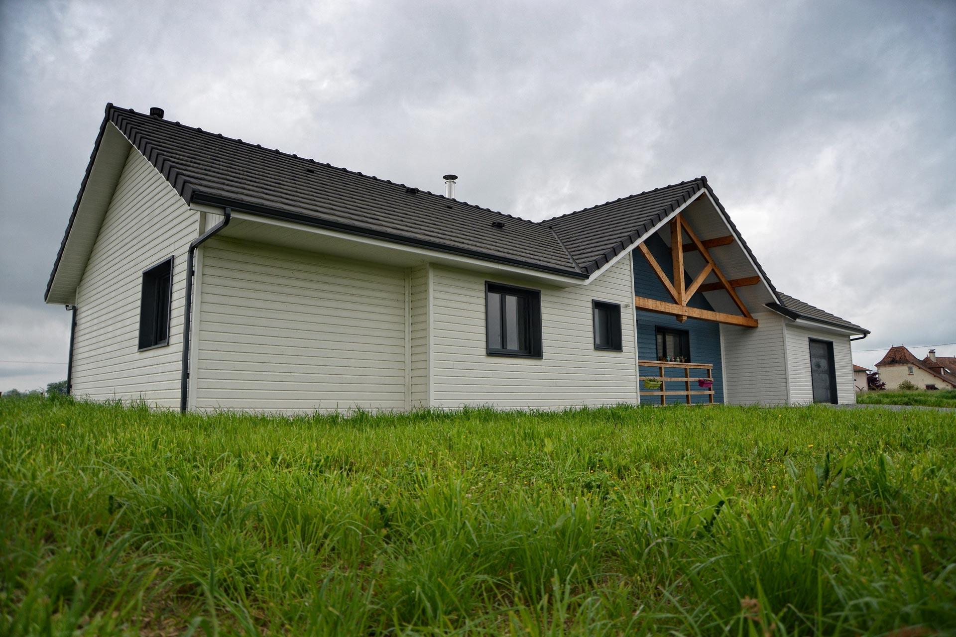maison ossature bois hygueres