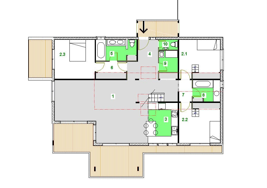 plan modèle ranch