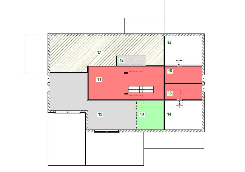 plan étage modèle ranch