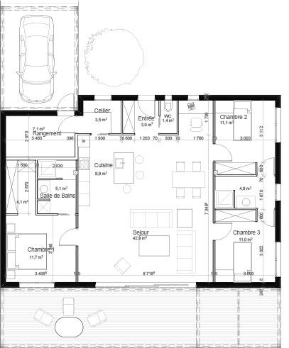 Plan-Maison-ossature-bois-Maisons-Cote-Bois-CESTAS