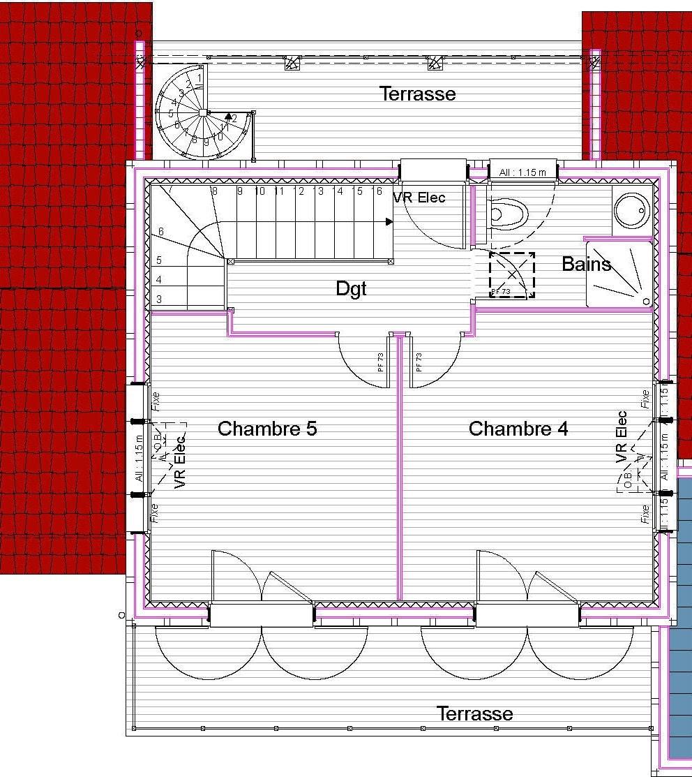 plan maison ossature bois sur mesure